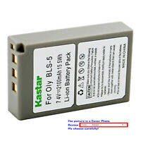 Kastar Replacement Battery Pack for Olympus BLS-5 BLS5 PS-BLS5 BLS-50 Battery