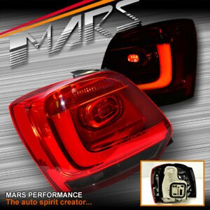 Smoked Red 3D LED Stripe Bar Tail lights for VW Volkswagen Polo 6R 10-13
