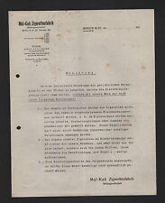 BERLIN, Brief 1925, Mal-Kah Zigaretten-Fabrik AG