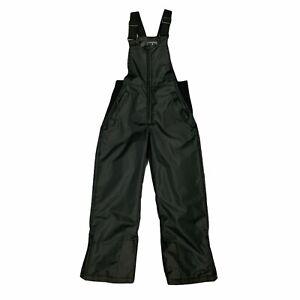 Pulse Ski Bib Snow Pants Youth Size L Black Insulated 1/2 Zip Jumpsuit Ankle Zip