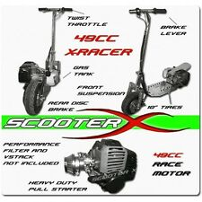 New ScooterX 49cc Gas Scooters Engine Foldable Handle bars  Aluminum Deck