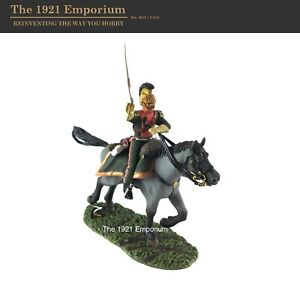 1:30 Metal W.Britain Napoleonic French Army 3rd Lancers Dragoon Officer Charging