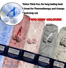 Hot Water Bottle 1.8L Vegan Fur Cover Luxury Long Wide Heat Pink Blue Grey Comfy