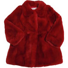 DOLCE AND GABBANA BABY RED FUR COAT 18-24 MONTHS