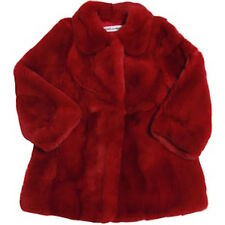 DOLCE AND GABBANA RED FUR COAT 18-24 MONTHS