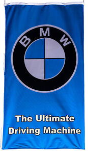 BMW-FLAG THE ULTIMATE DRIVING MACHINE BLUE #1 VERTICAL BANNER 5 X 3 FT