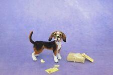 OOAK Realistic Miniature Dog ~ Beagle  ~ 1:12 Dollhouse Handmade Pet Animal