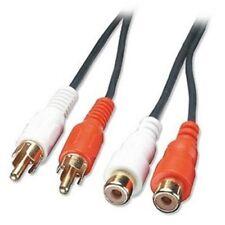 Lindy 3m Cable de extensión de audio - 2 X Phono Macho A Hembra Phono x 2 Premium