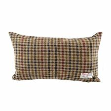 Harris Tweed Rectangular Cushion Brown Dogtooth Lb4001