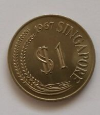 Singapore $1 Dollar Lion Coin of Year 1967, A VERY FINE & NICE Coin