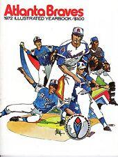 1972 Atlanta Braves Baseball Yearbook, Hank Aaron, Phil Niekro, Ralph Garr ~ VG