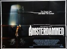 AMSTERDAMNED 1988 ORIGINAL QUAD POSTER DICK MAAS HUUB STAPEL MONIQUE VAN DE VEN
