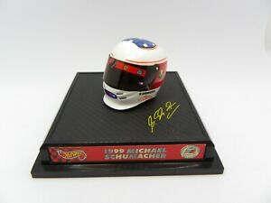 Helmet Michael Schumacher 1999 Ferrari Hotwheels 1/8 F1 Helmet Formula 1 Rare