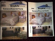 VTG SIMPLICITY PATTERN 9800 STUDIO COUCH SOFA  COVERS TABLECLOTH DUST RUFFLE