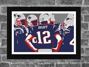 New England Patriots Brady Bunch Portrait Sports Print Art 17x11