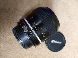 Nikon Nikkor AI 35mm F1.4 Manual Focus Camera Lens
