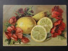 Poppies STILL LIFE POPPIES & FRUIT Agammius Boecker c1906 by A.S.B