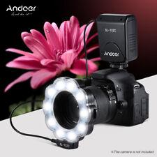 Macro LED Ring Light Flash Speedlite Lamp 6800K For Canon Nikon DLSR Camera K6L2
