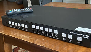 Monoprice Blackbird 4k 60hz 4x2 2x2 Multiview Video Processor HDMI DP w/remote