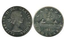 1 Dollar Elisabeth II Canada Argent 1961