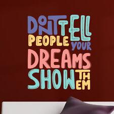 Wall Quote Motivational Home Wall Decor Vinyl Sticker Decal Mural Art Inspire