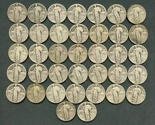 US LOT OF 37 STANDING LIBERTY QUARTERS CIRCULATED  YOU DO THE GRADING