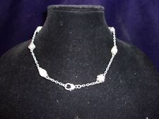 """JUDITH RIPKA CABLE PEARL STERLING SILVER NECKLACE 17"""""""