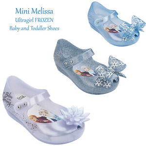 Mini Melissa Ultragirl Frozen Baby Girl Toddler Shoes Dress Mary Janes with Bow