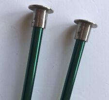 Vintage Boye 10� #7 4.5mm Single Point Green Aluminum Knitting Needles