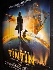 LES AVENTURES DE TINTIN et le secret de la licorne    ! affiche cinema modele b