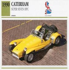 1990 CATERHAM SUPER SEVEN HPC Sports Classic Car Photo/Info Maxi Card