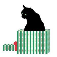 """Paperproducts Design Black Cat Cadeau Beverage Napkins, 5 x 5"""", Multicolor"""