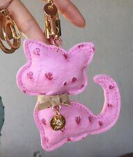 Korean Cat Leather Tassel Key Chain Ring Bag Charm Luxury Keychain Cute Kawaii