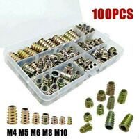 100Pcs M4-M10 Rivet Nuts Kit Aluminum Alloy Rivnut Nutsert Insert Cap Assort