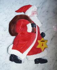 Antiker Nikolaus  aus tiefgeprägtem Karton - Santa - Weihnachtsmann (# 3567)