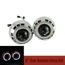 "3.0"" Car Headlights HID Bi-Xenon Projector Lens Kit Halo Angel Eye Cnlight Lamp"