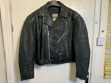 VINTAGE 80's COMINT LEATHER BRANDO MOTORCYCLE JACKET SIZE 50 / XL