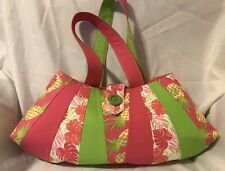 Handmade Quilted Purse Hawaiian Patterns, Fun Detailing. Washable,One Of A Kind!