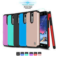 For LG Aristo 2/2 Plus/Tribute Dynasty/Rebel 3 Case Armor Cover+Screen Protector