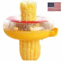 US Corn Slicer Peeler Thresher Tool Kitchen Cob Kerneler Cutter Stripper Remover