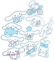 RARE! 10 Large Cinnamoroll Waterproof Kawaii Stickers For Laptop Hydro Flask