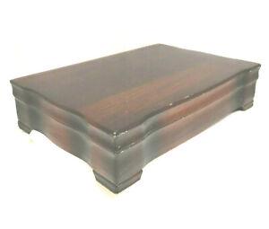 Vintage Tarnish Resistant Wood Silverware Flatware Wooden Storage Chest Box 79