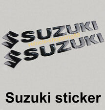 Suzuki S Sticker Logo Motorcycle Black Fuel Tank Decal Emblem 3D Motorrad Car