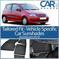 Chevrolet Kalos 3dr 2002-2008 UV CAR SHADES WINDOW SUN BLINDS PRIVACY GLASS TINT