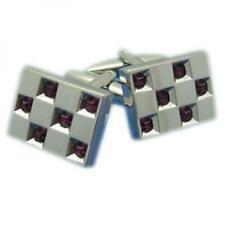 Amethyst Stone Cufflinks for Men