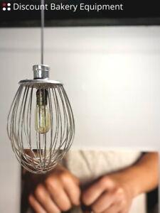 Industrial Bakery Whisk Single Pendant Light with Vintage Edison Light Bulb
