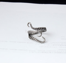 New Octopus Steampunk Stainless Steel Finger Open Ring Adjustable Size Retro FR