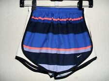 NIKE DRI-FIT TEMPO Striped Lined Running Athletic Shorts Womens Size X-SM NWOT!