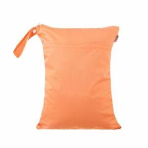 Waterproof Double Zip Wet Bag Plain Coral 30x40cm - Medium