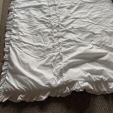 Rachel Ashwell Simply Shabby Chic White Heirloom Comforter Ruffled King Size Bed